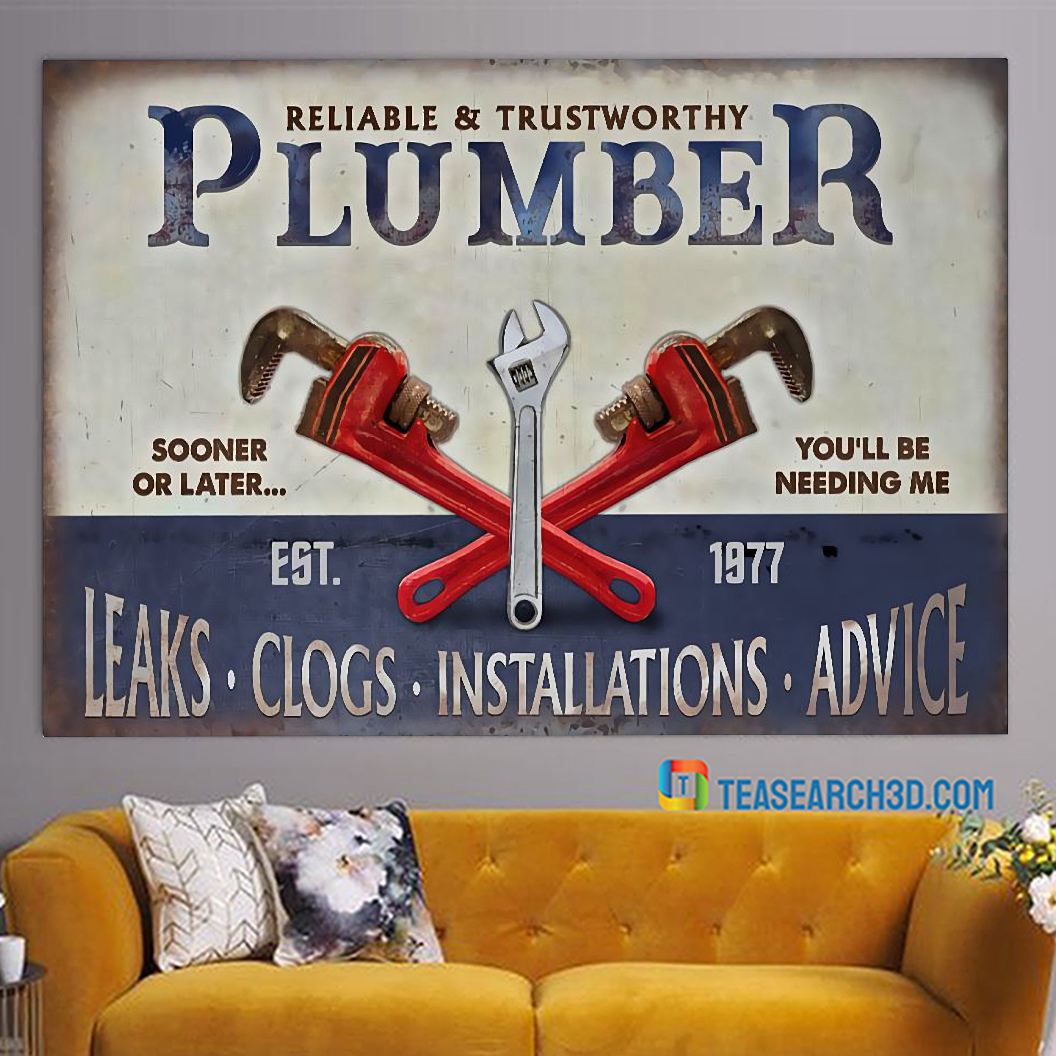 Plumbing reliable and trustworthy plumber poster