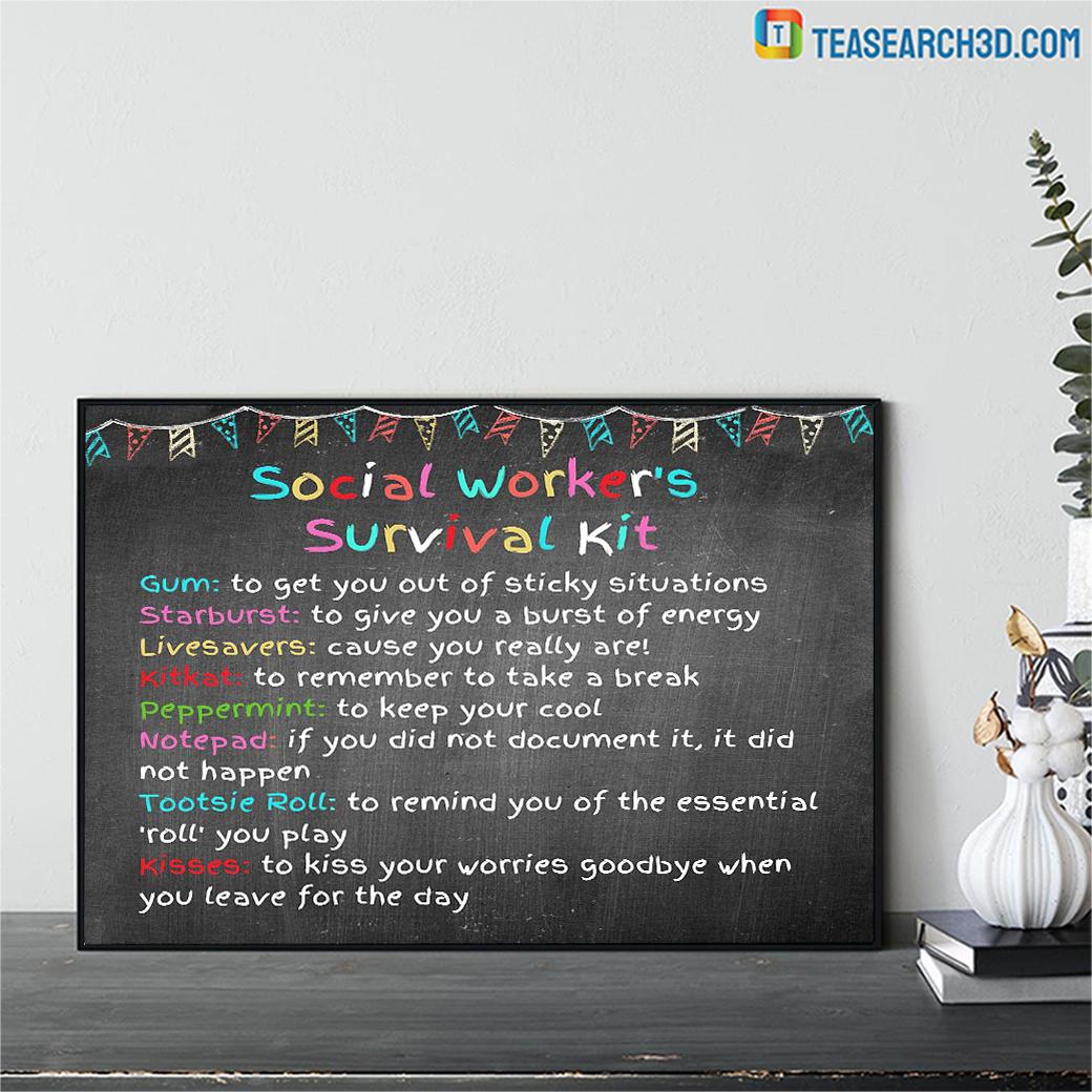 Social worker survival kit poster