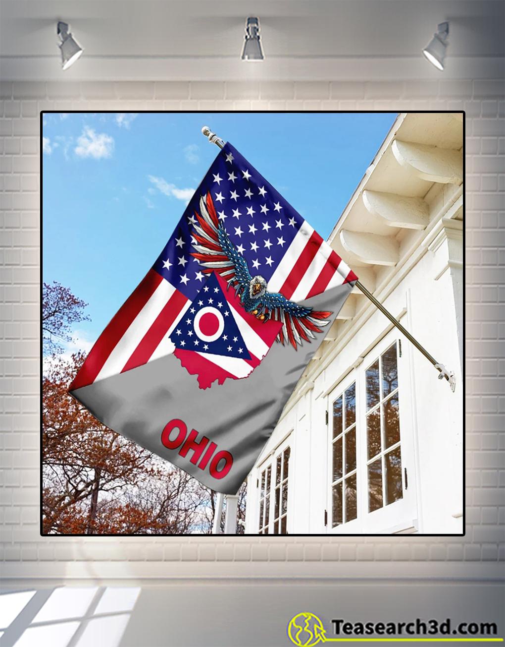 Us state ohio american eagle flag 1