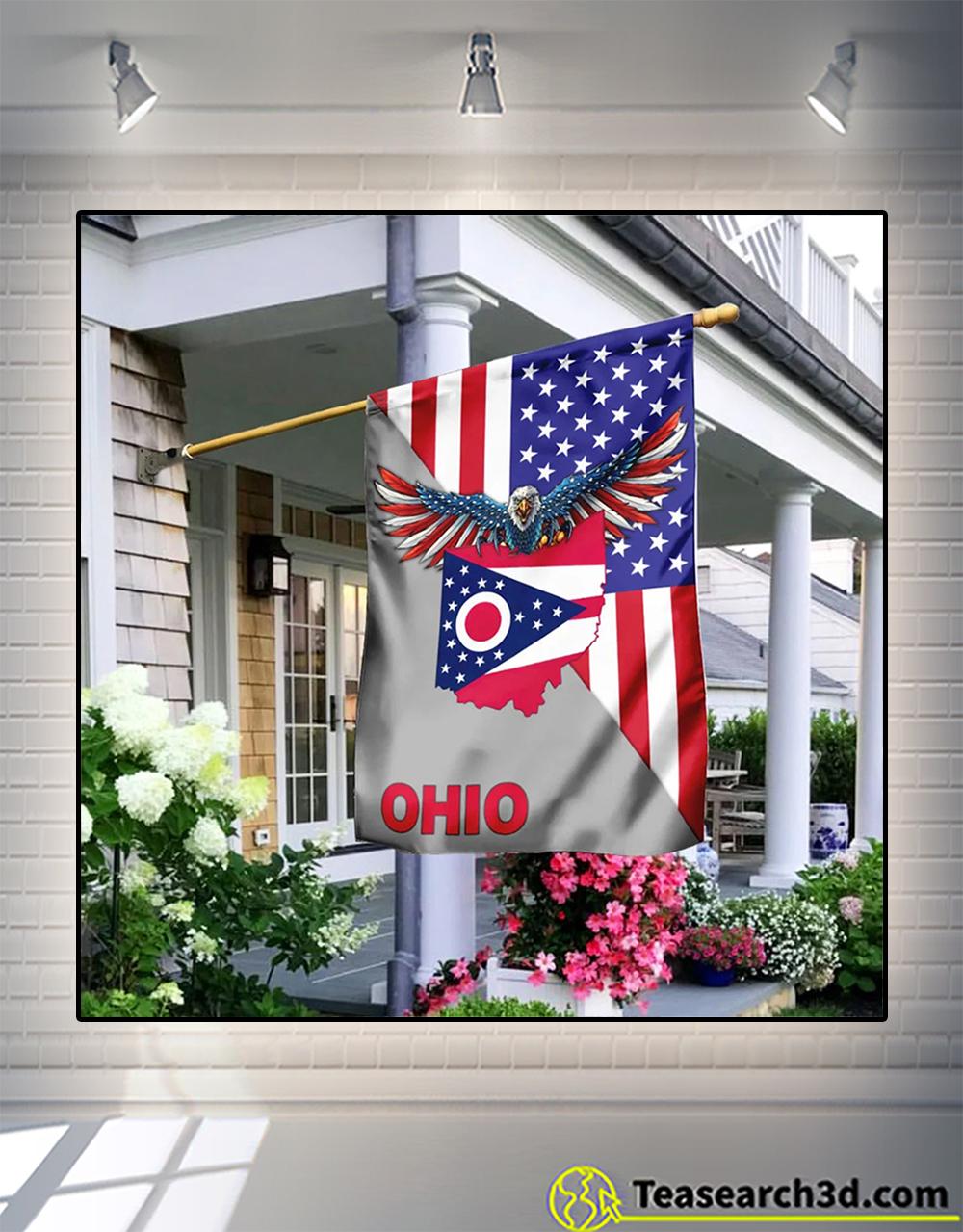 Us state ohio american eagle flag
