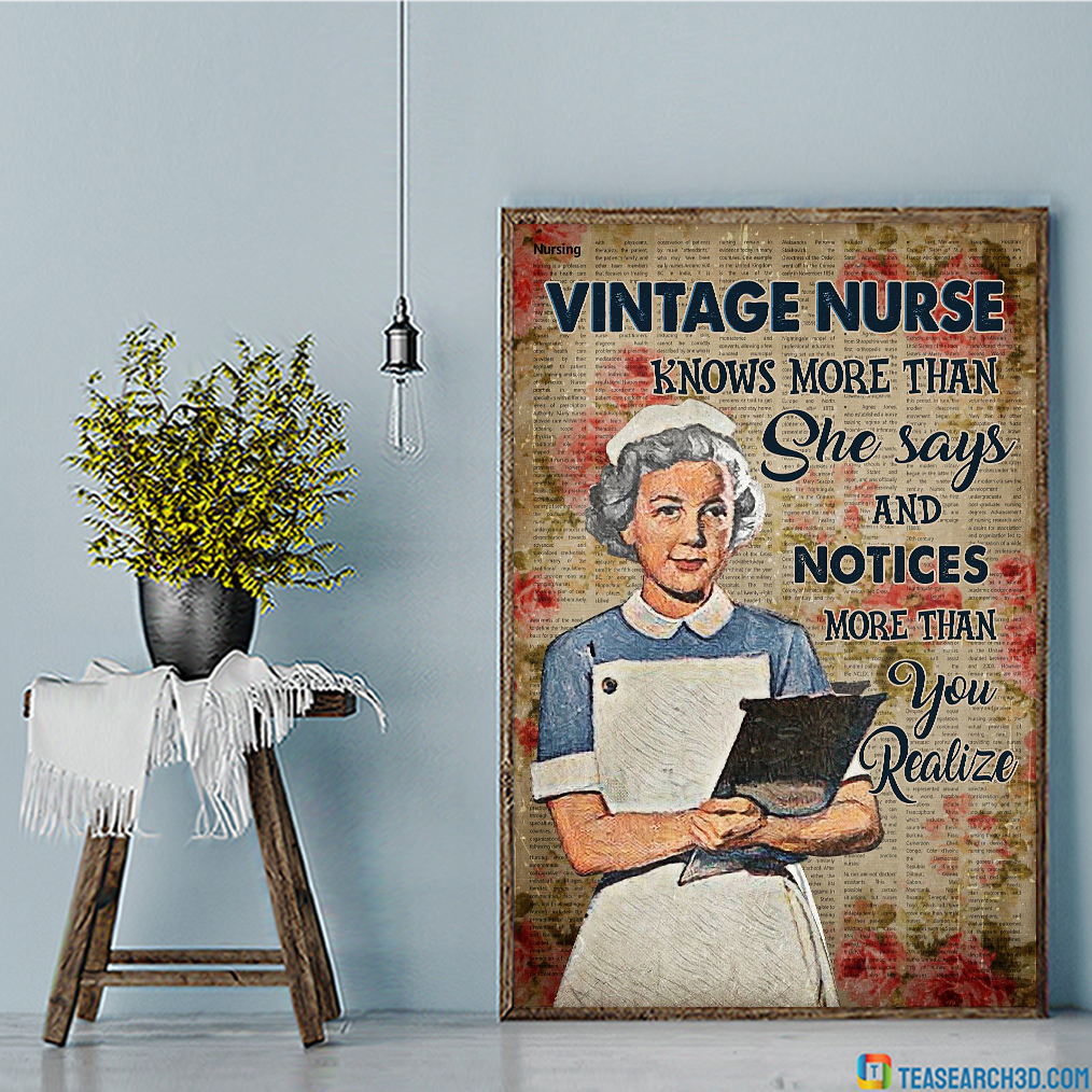Vintage nurse knows more than she says and notices more than you realize poster