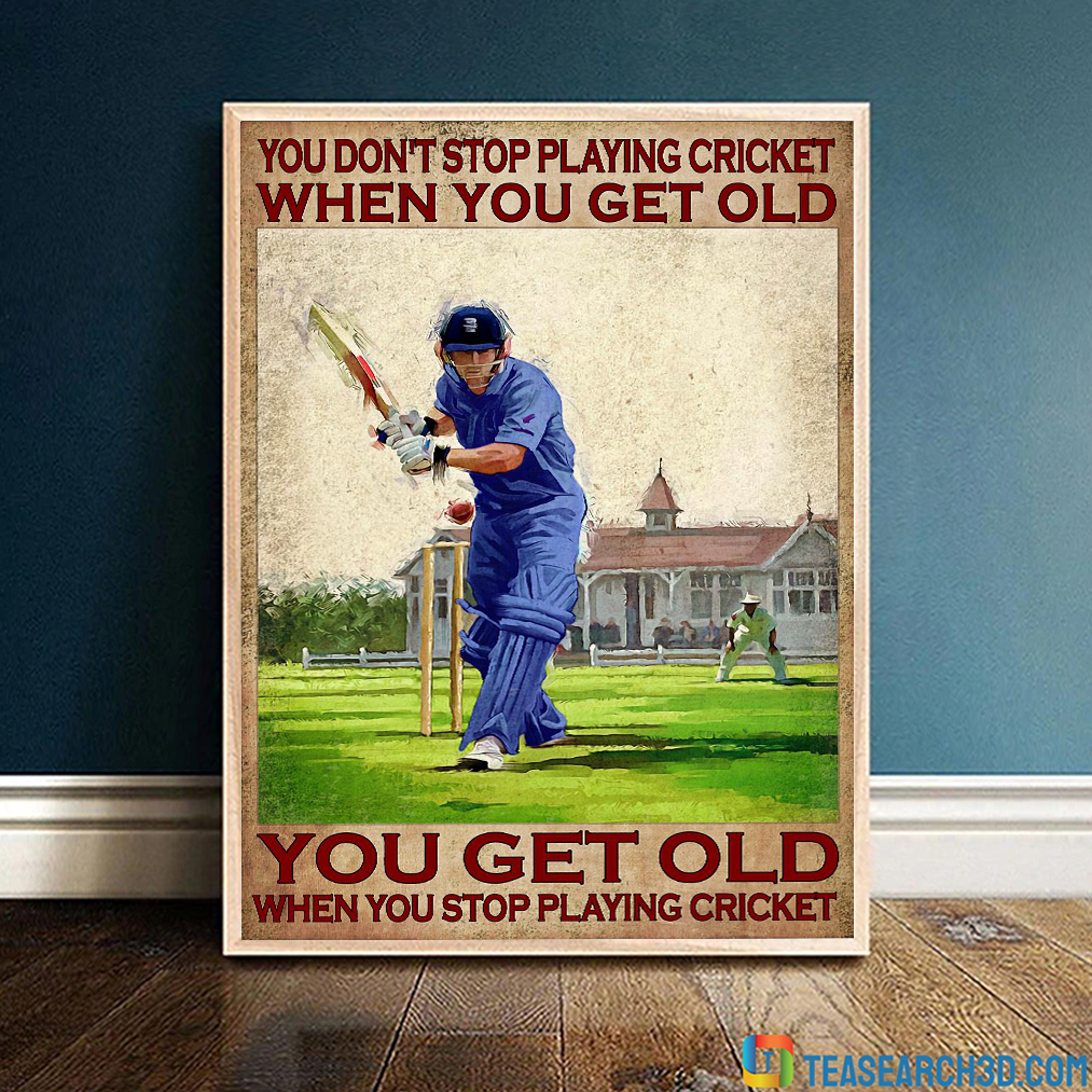 You don't stop playing cricket when you get old poster