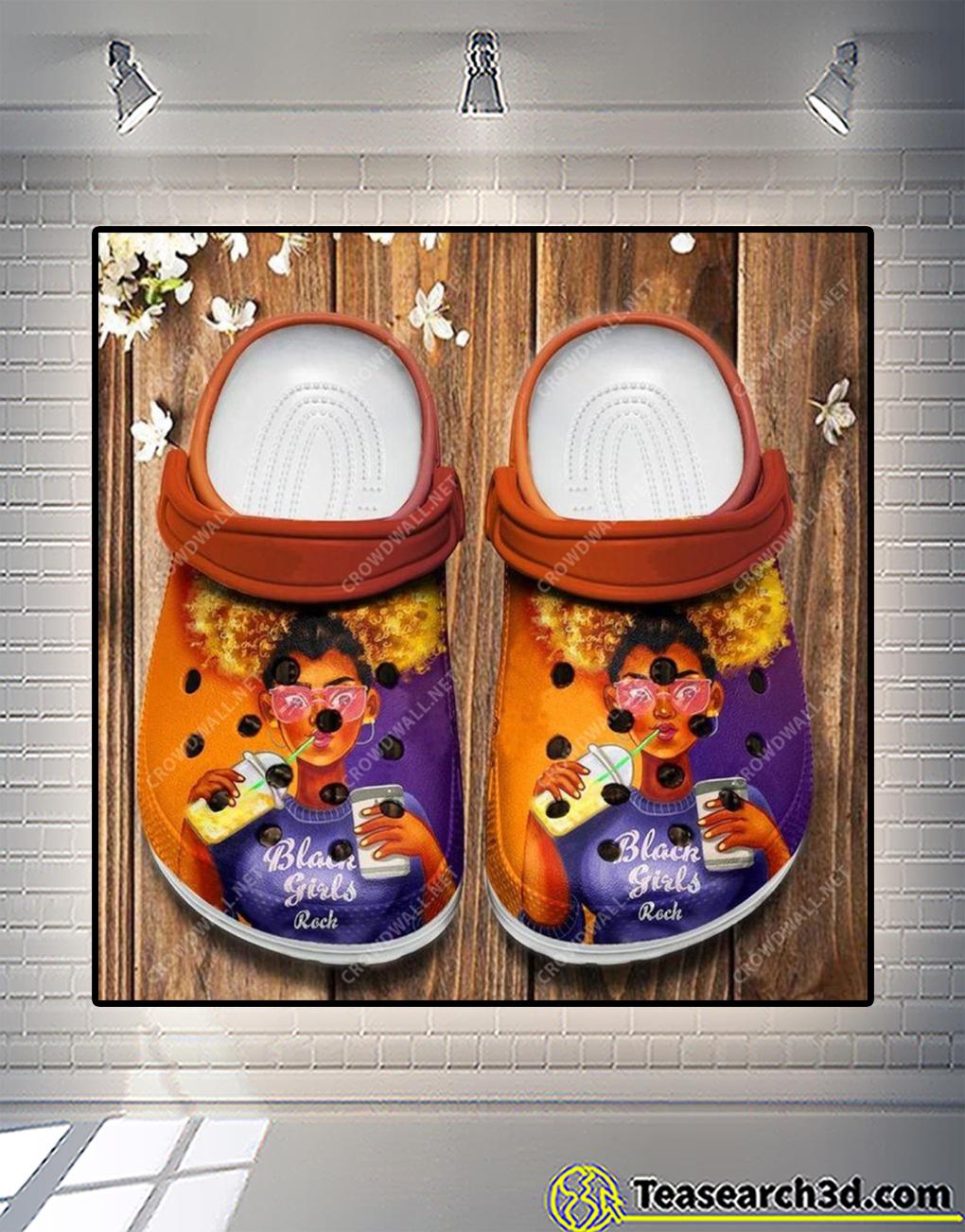 Afro black girls rock crocs shoes