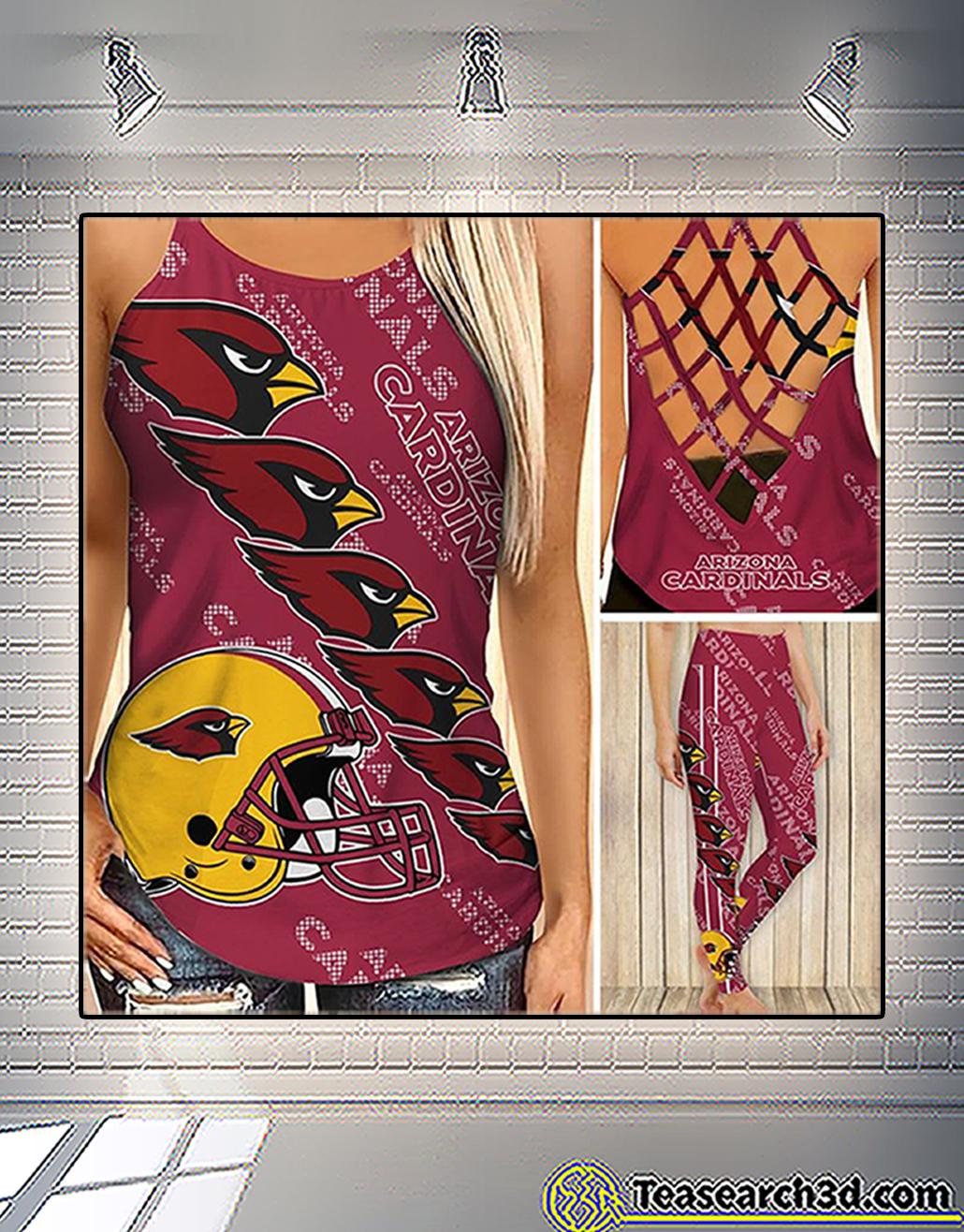 Arizona cardinals criss cross tank top and leggings