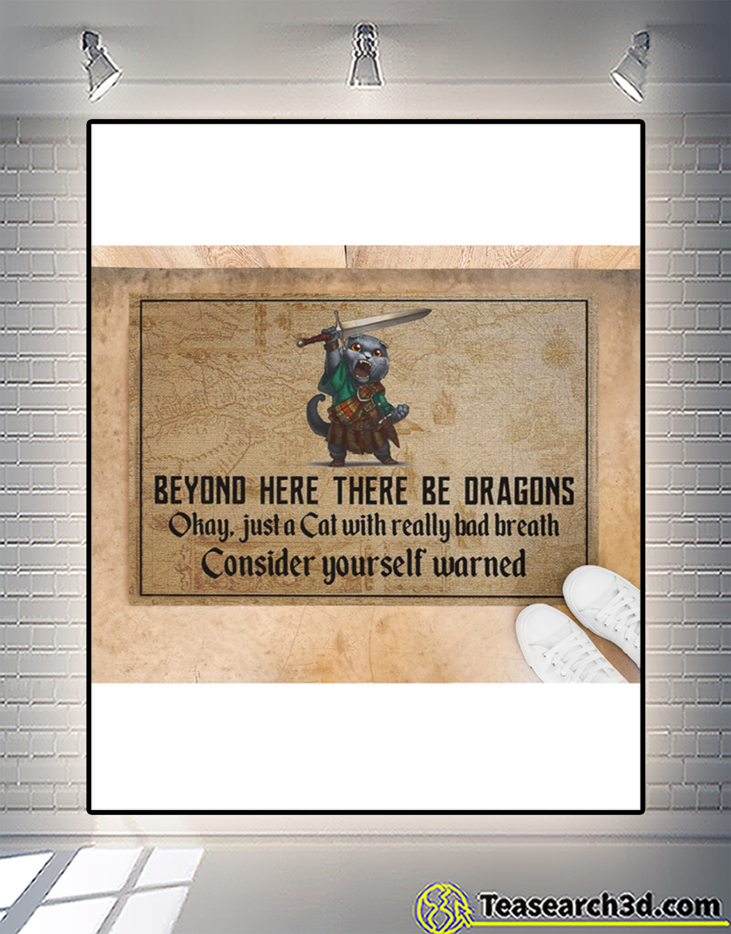 Beyond here there be dragons okay just a cat doormat 1