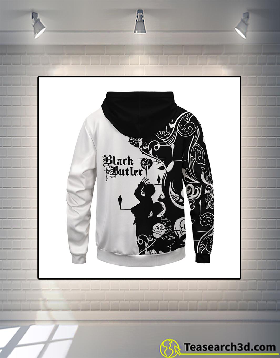 Black butler unisex pullover hoodie back