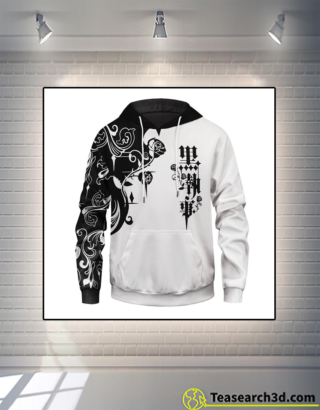 Black butler unisex pullover hoodie front