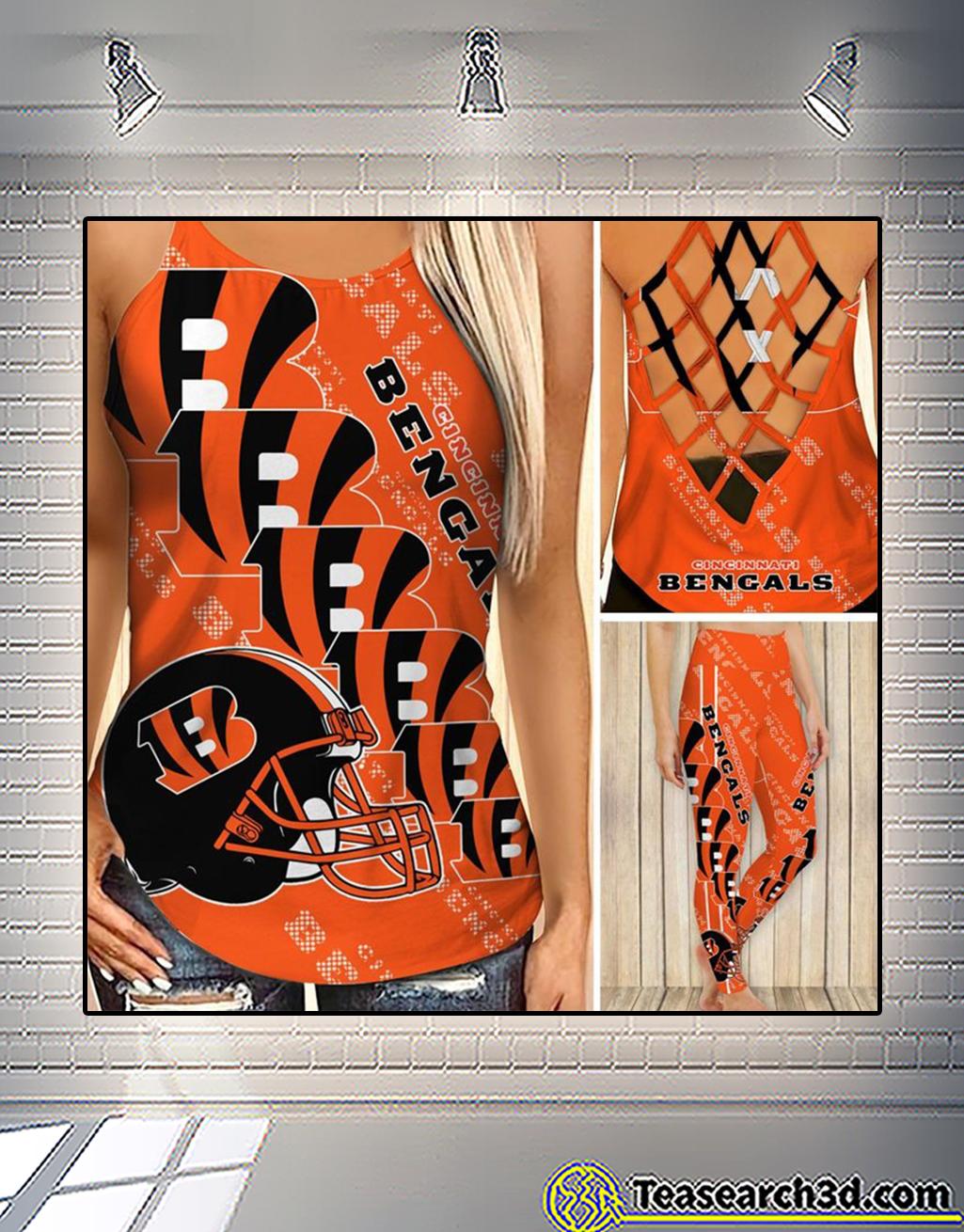 Cincinnati bengals criss cross tank top andCincinnati bengals criss cross tank top and leggings 3 leggings 3