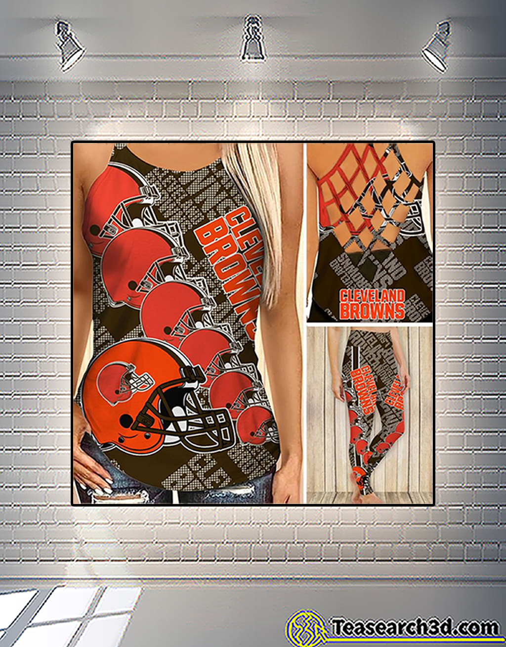 Cleveland browns criss cross tank top and leggings