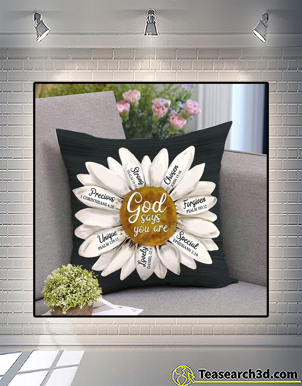 Daisy god says you are pillowcase