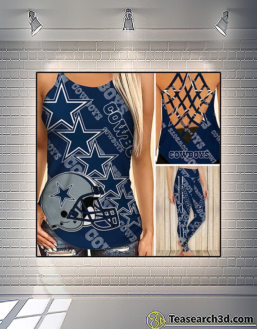 Dallas cowboys criss cross tank top and leggings