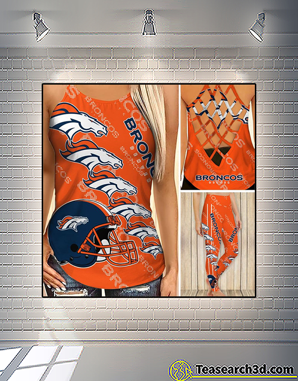 Denver broncos criss cross tank top and leggings