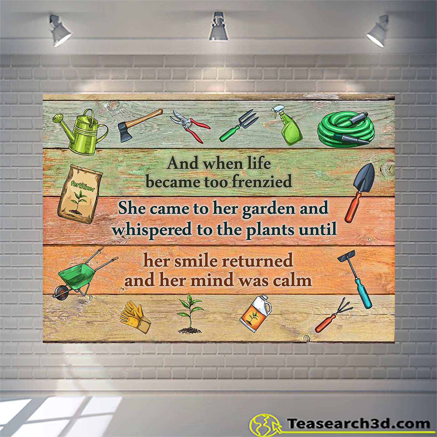 Gardening and when life became too frenzied poster A1