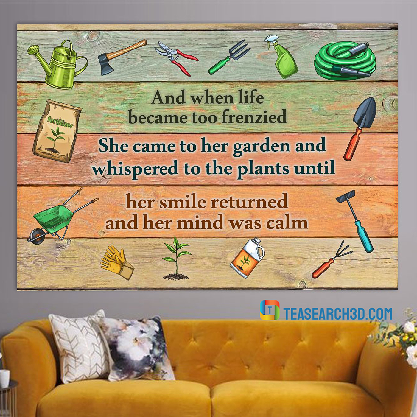 Gardening and when life became too frenzied poster A3