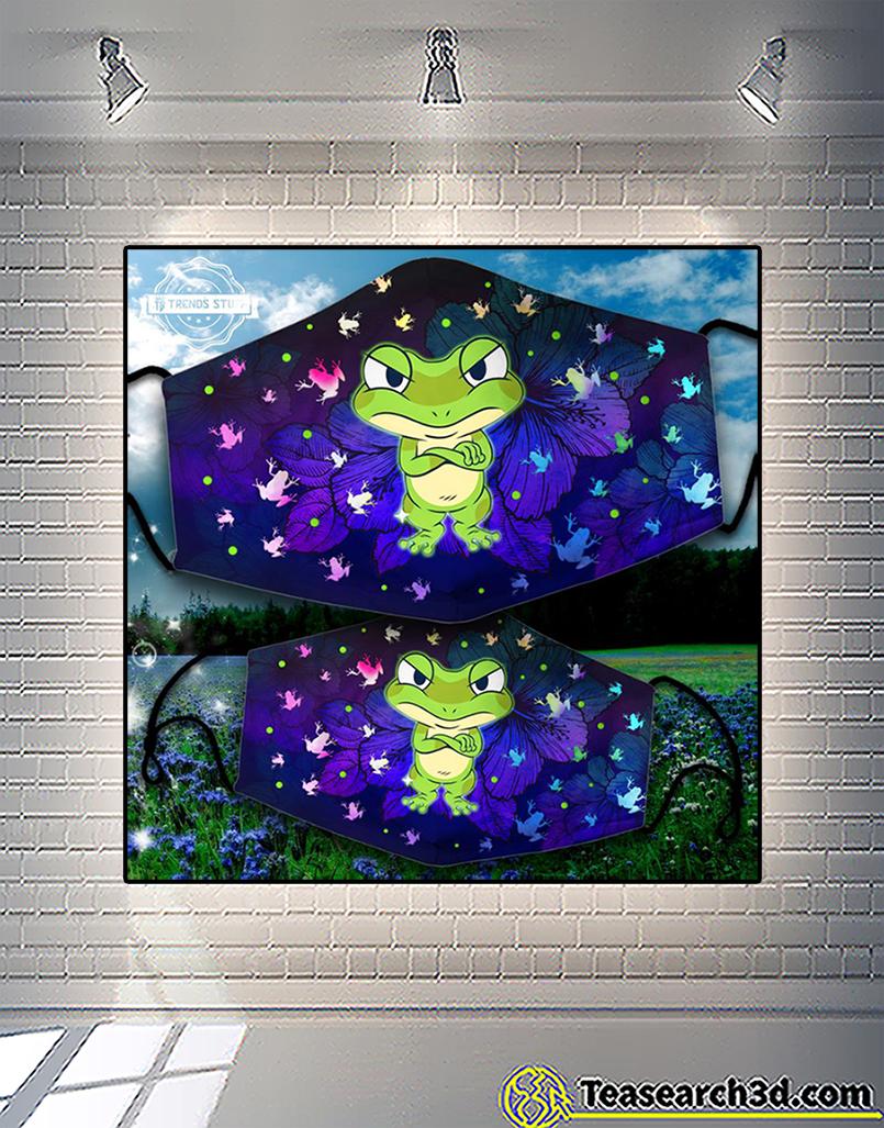Grumpy frog face mask 2