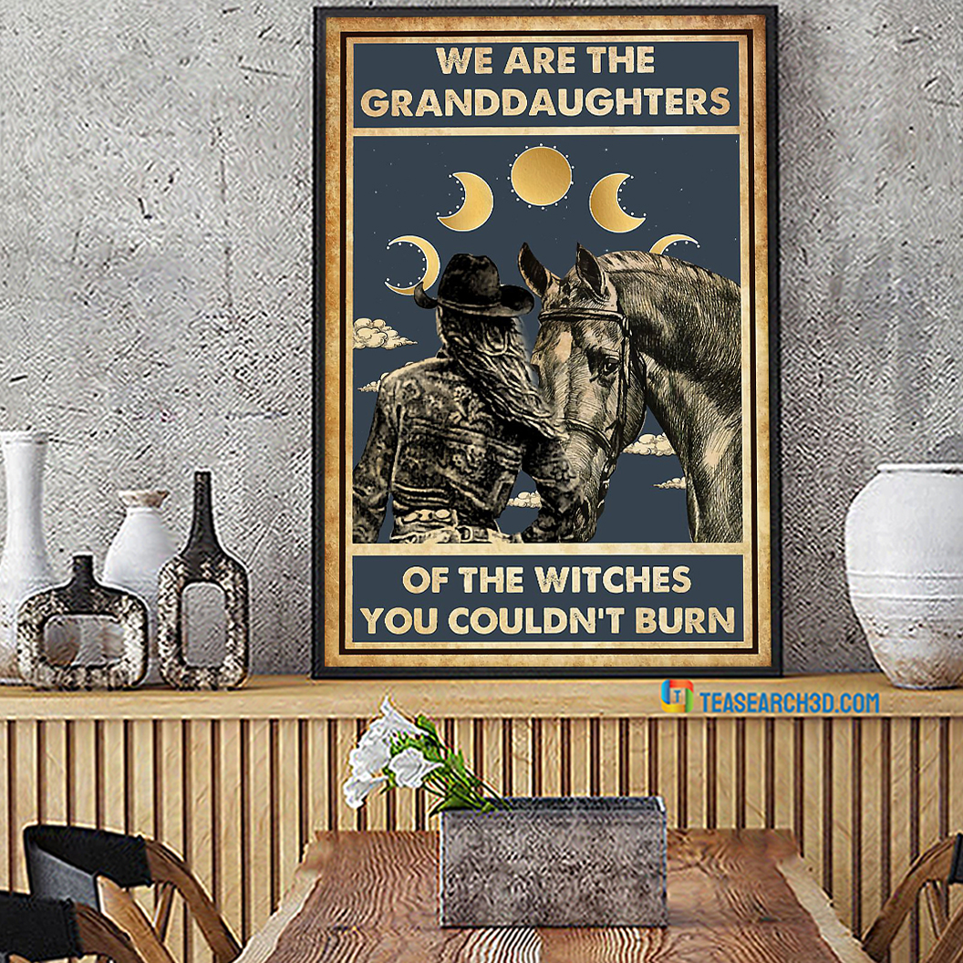 Horse girl we are the granddaughters of the witches you couldn't burn poster A2