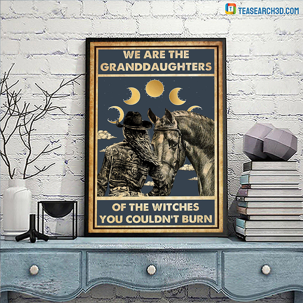Horse girl we are the granddaughters of the witches you couldn't burn poster A3