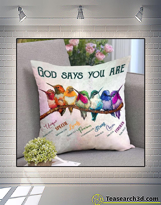 Hummingbird god says you are pillowcase