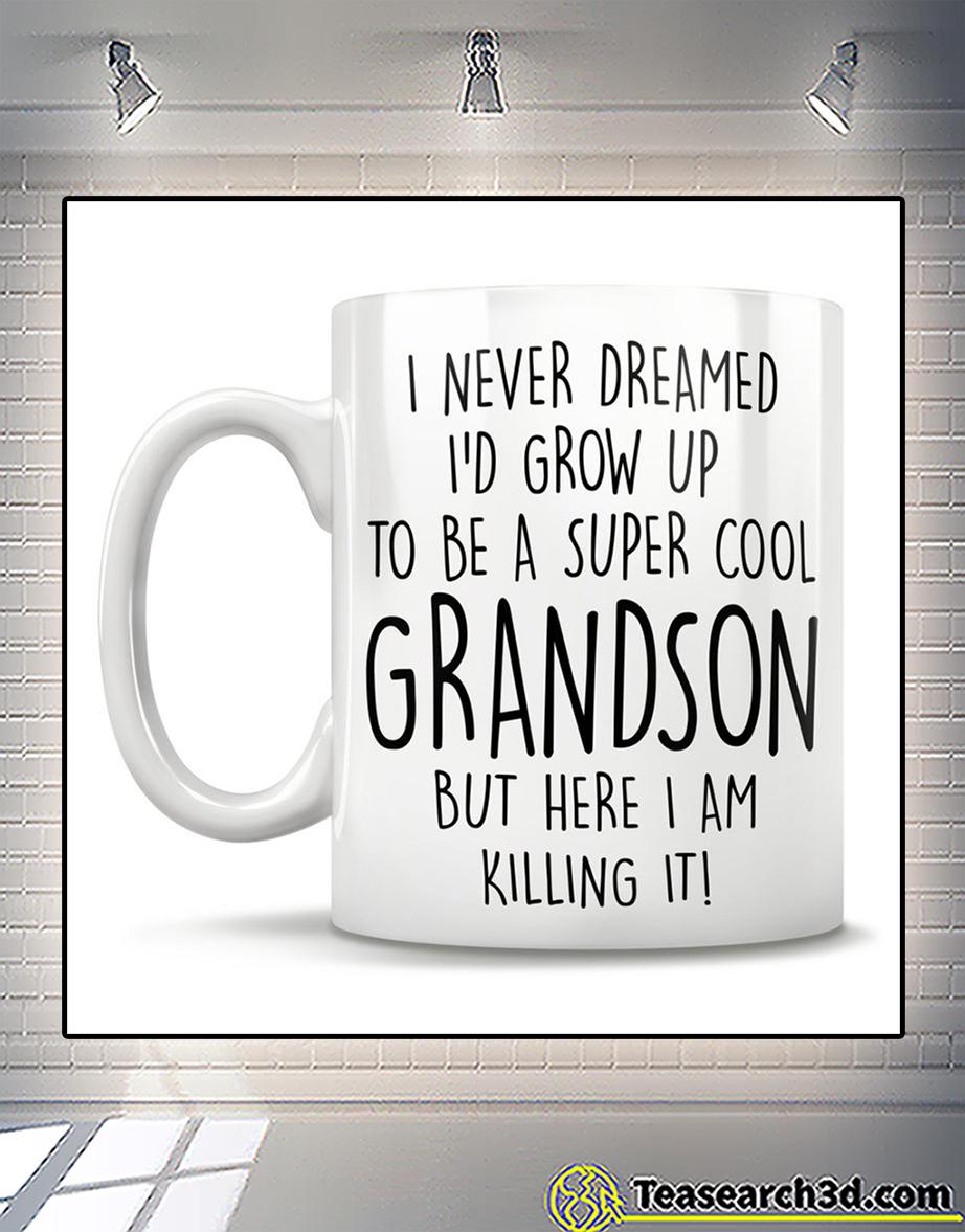 I never dreamed I'd grow up to be a super cool grandson mug back