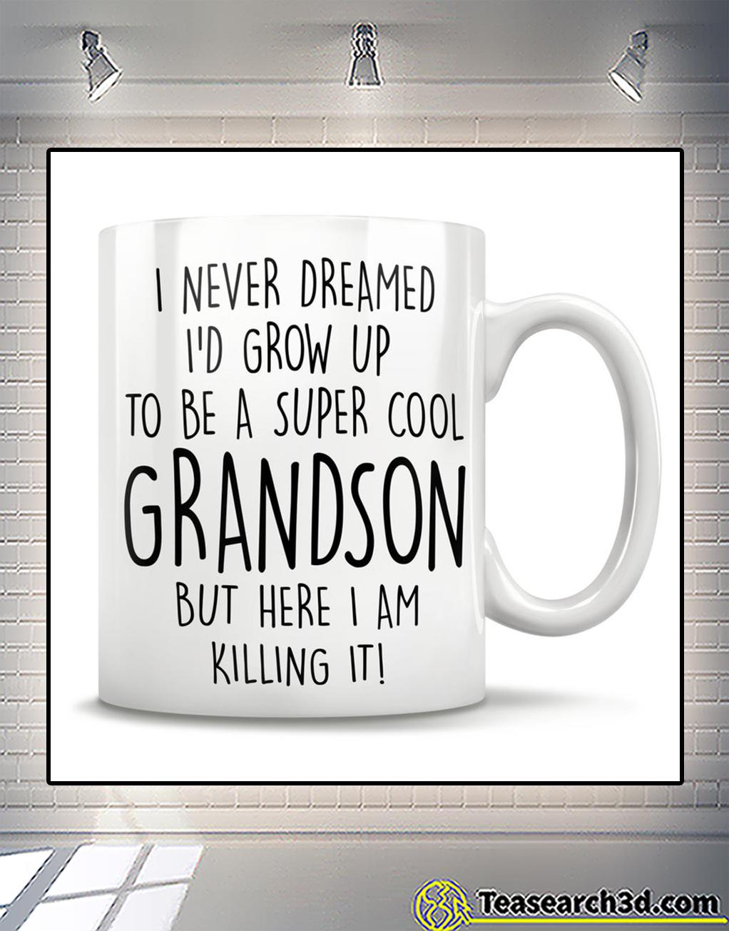 I never dreamed I'd grow up to be a super cool grandson mug
