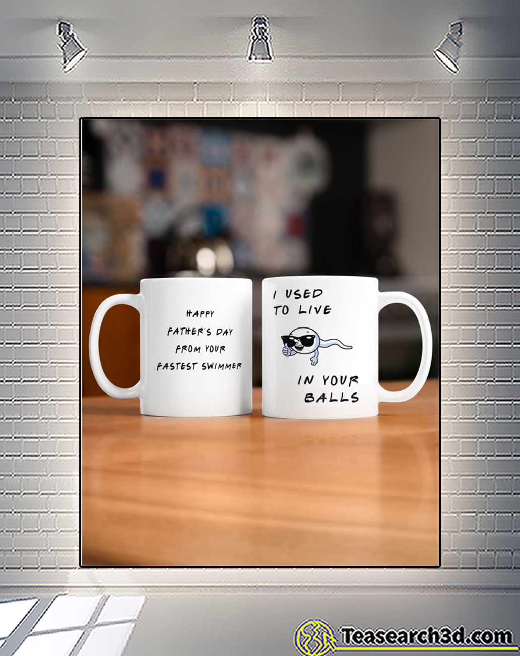 I used to live in your balls the best dad mug