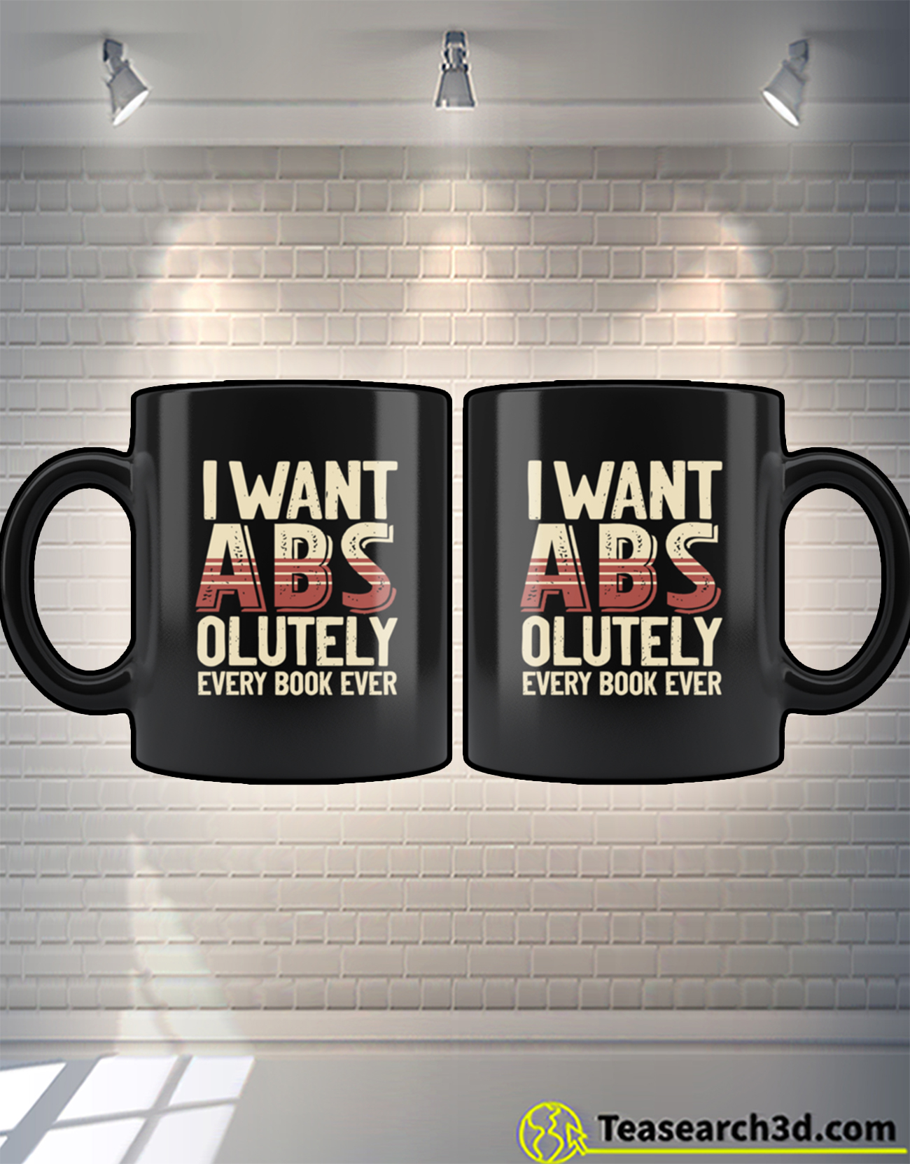 I want abs-olutely every book ever mug 2