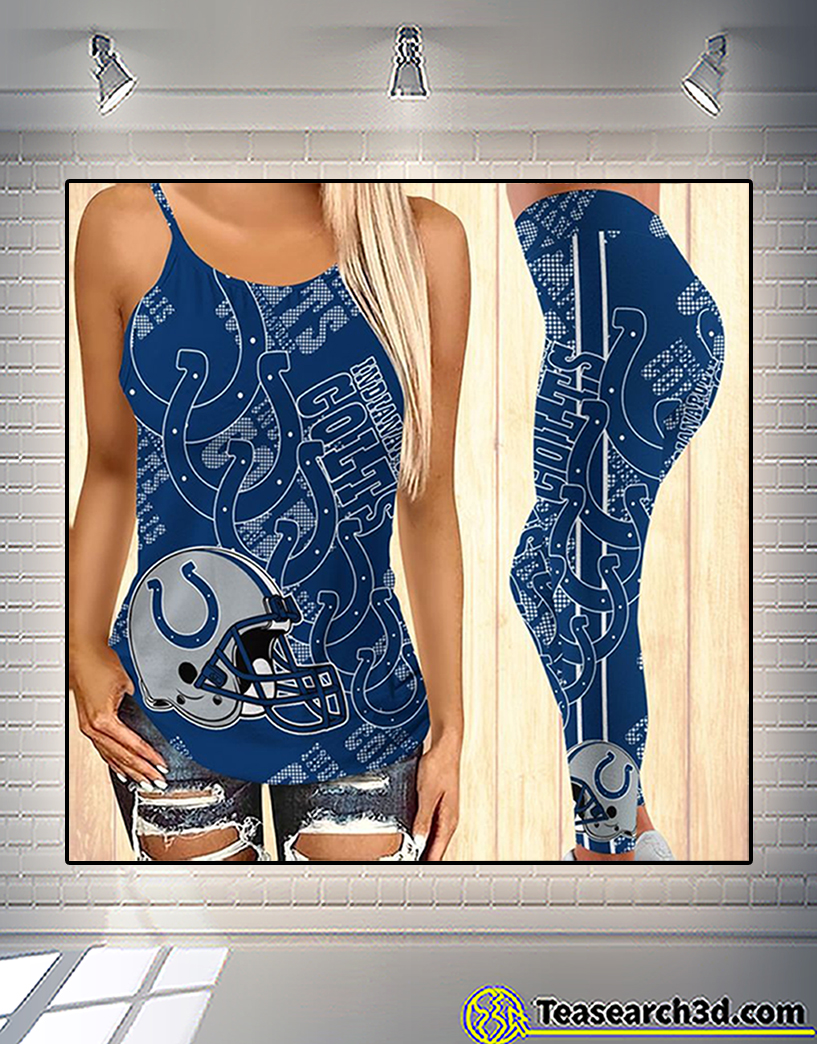 Indianapolis colts criss cross tank top and leggings 2