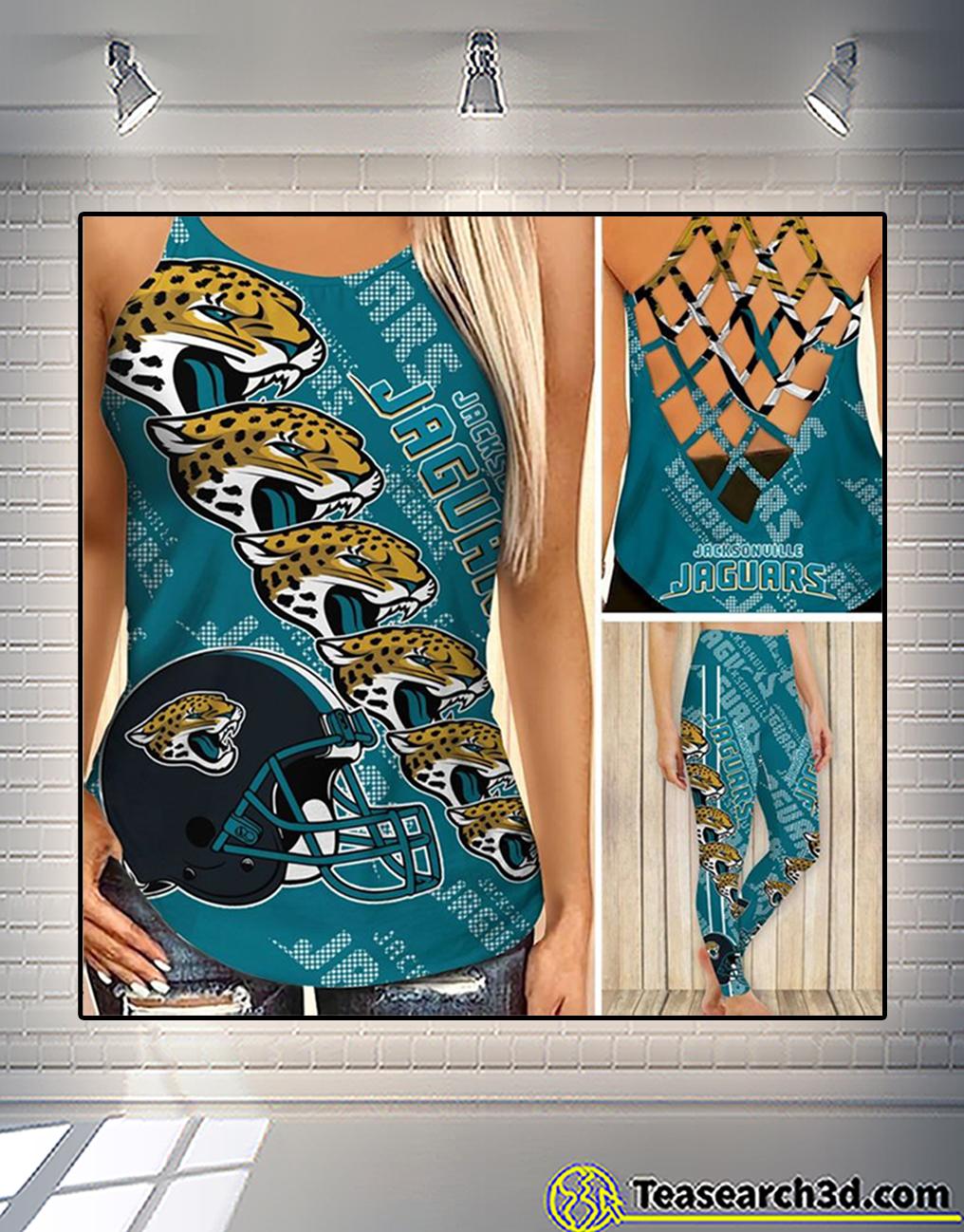 Jacksonville jaguars criss cross tank top and leggings