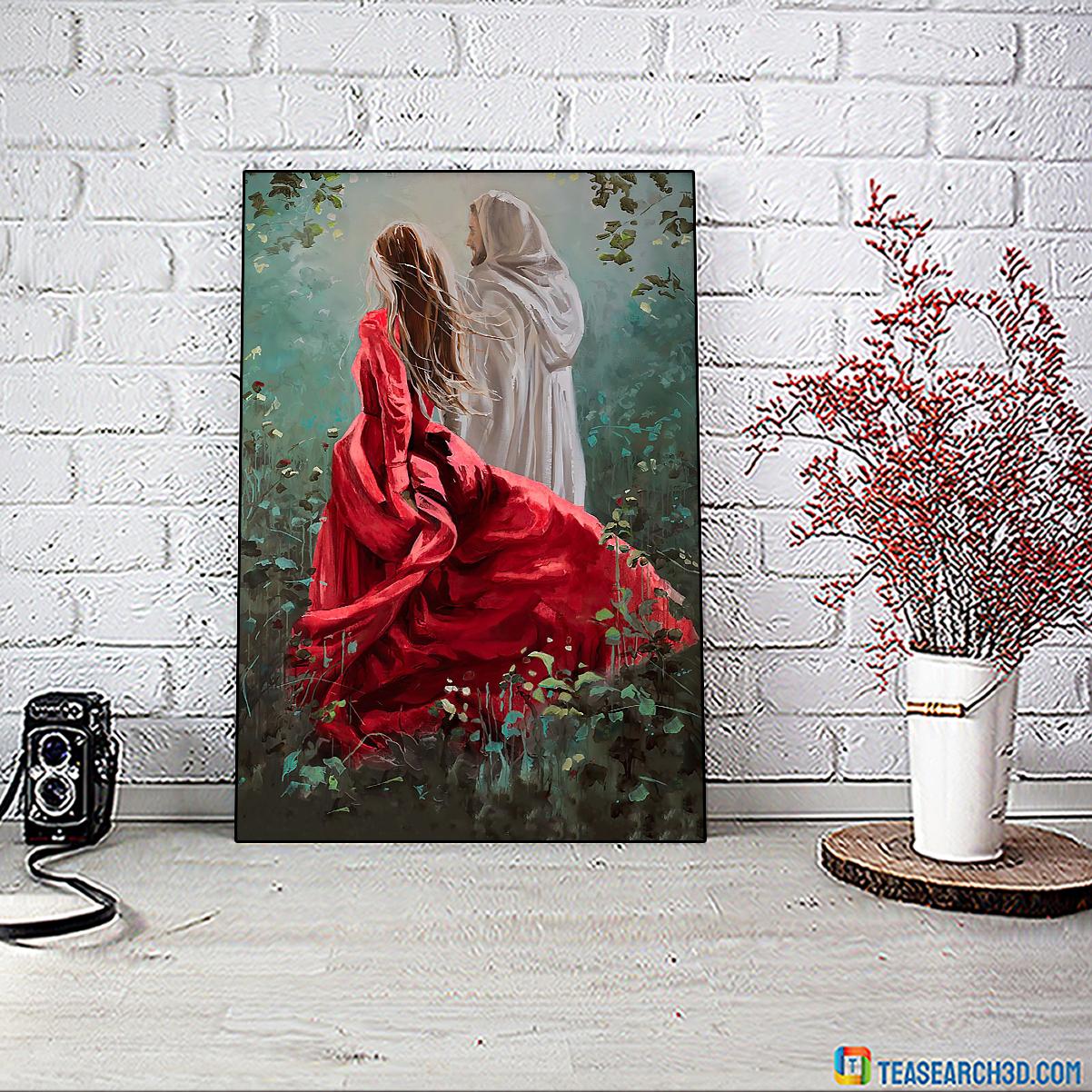 Jesus God walk with me poster