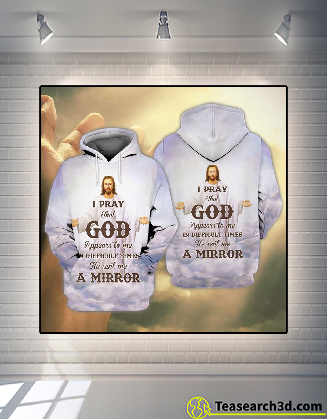 Jesus and you I pray that god 3d all over printed hoodie
