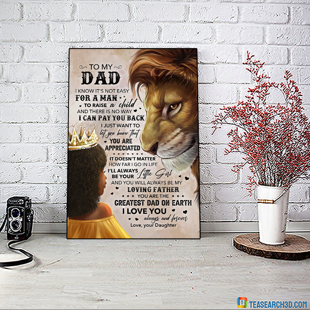 Lion Daughter To My Dad Poster A2