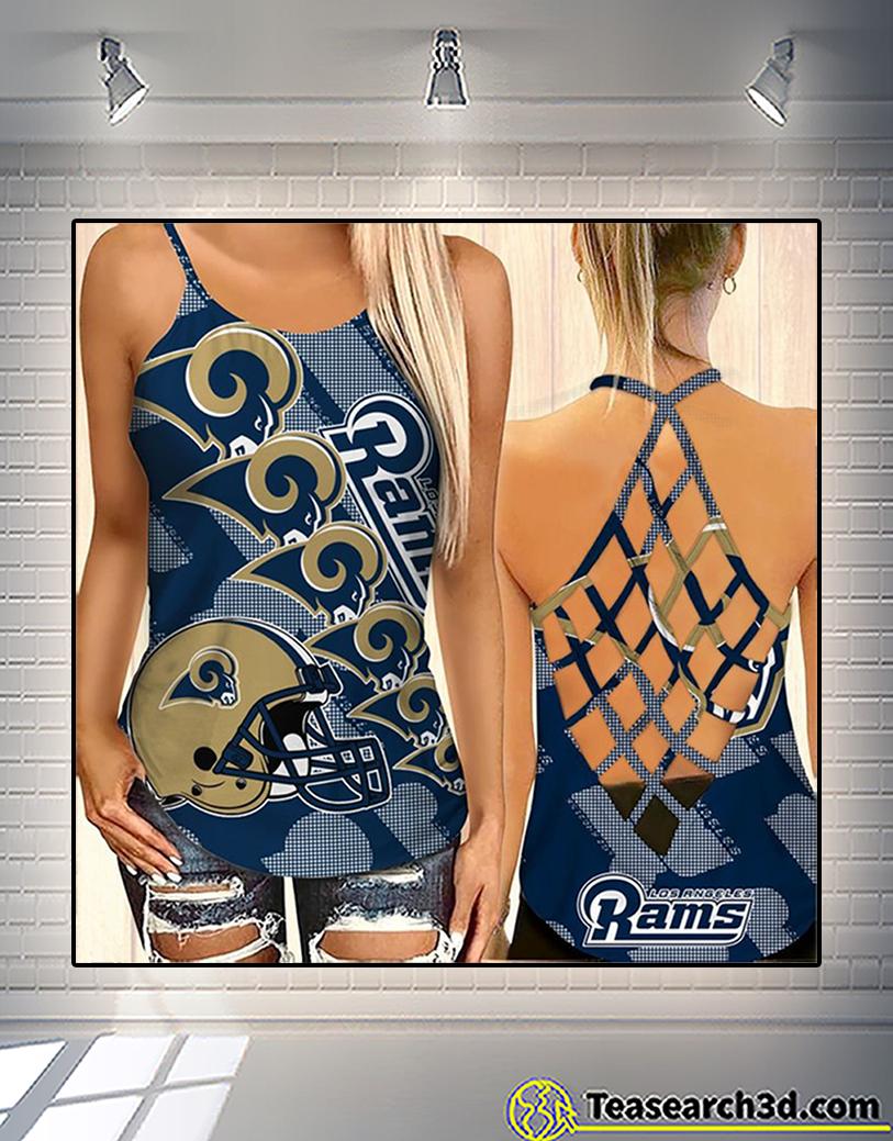 Los angeles rams criss cross tank top and leggings 1
