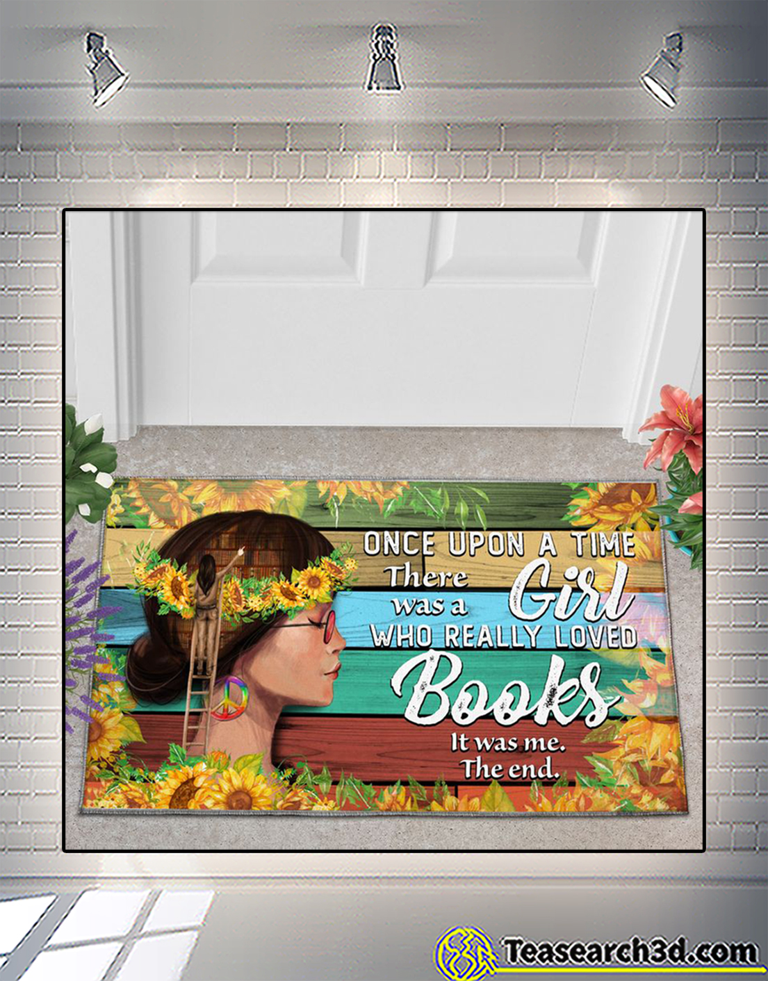 Once upon a time there was a girl who really loved books doormat 2