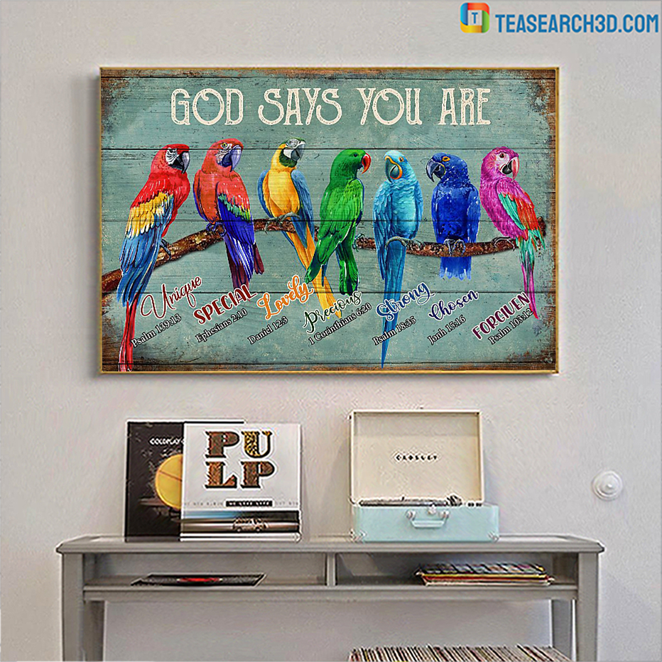 Parrots god says you are poster A1