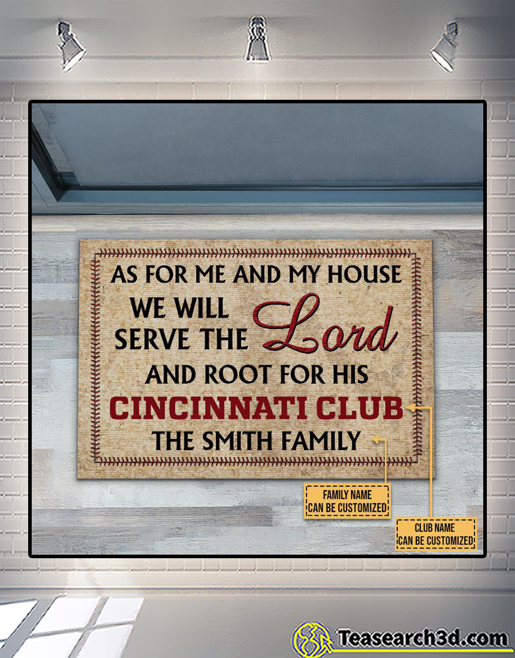Personalized baseball as for me and my house we will serve the lord doormat