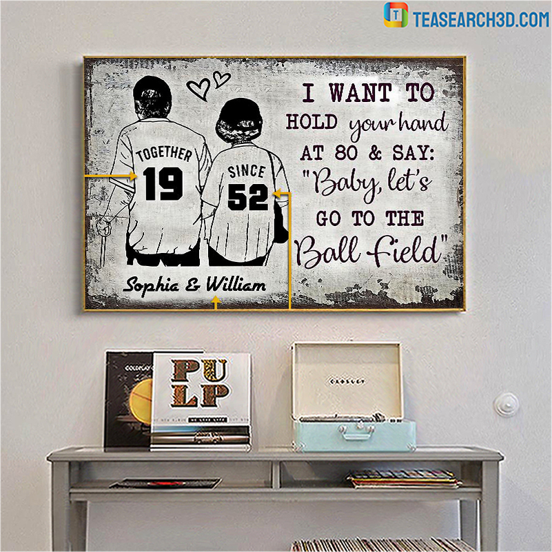 Personalized baseball together since customized poster A1Personalized baseball together since customized poster A1