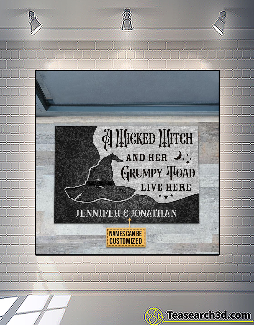 Personalized custom name a wicked witch and her grumpy toad live here doormat 2