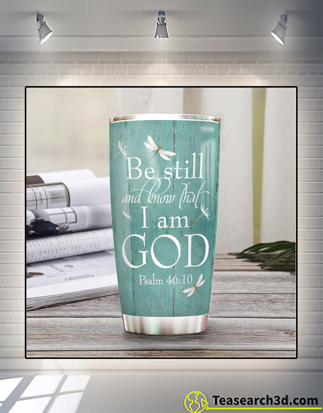 Personalized custom name faith be still and know that I am god tumbler 2