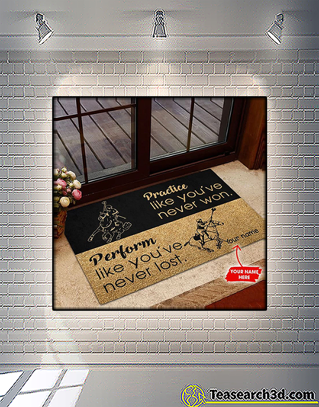 Personalized custom name polocrosse practice like you've never won doormat