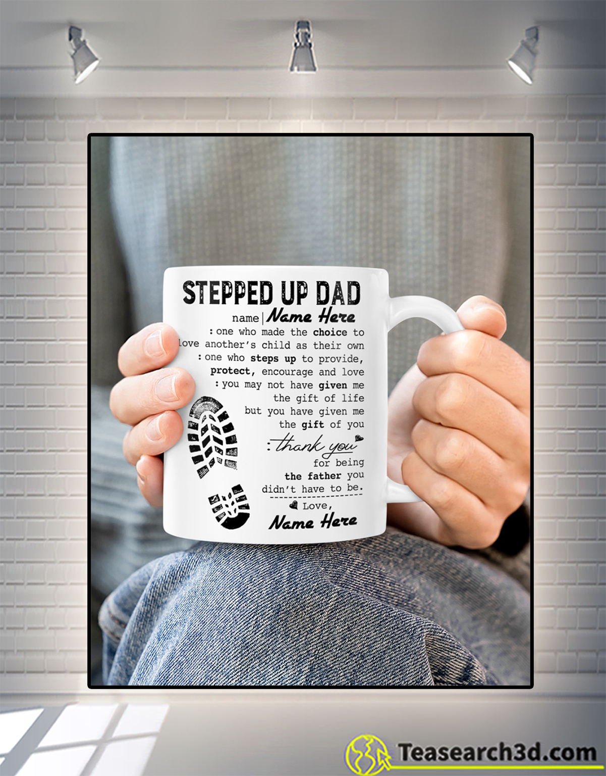 Personalized custom name stepped up dad mug 1