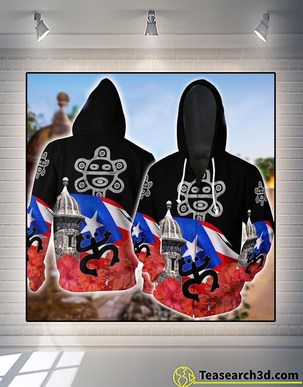 Puerto rico 3d all over printed zip hoodie