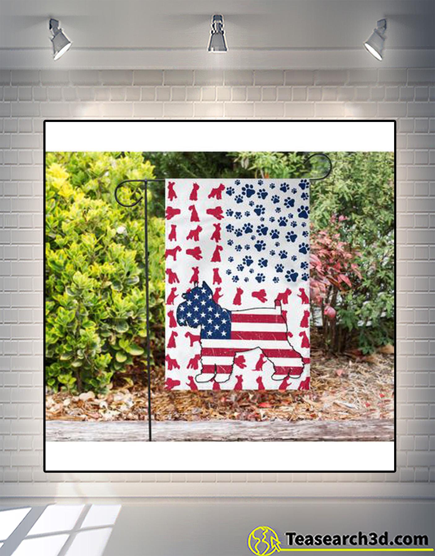 Schnauzer american flag garden-house flag 3