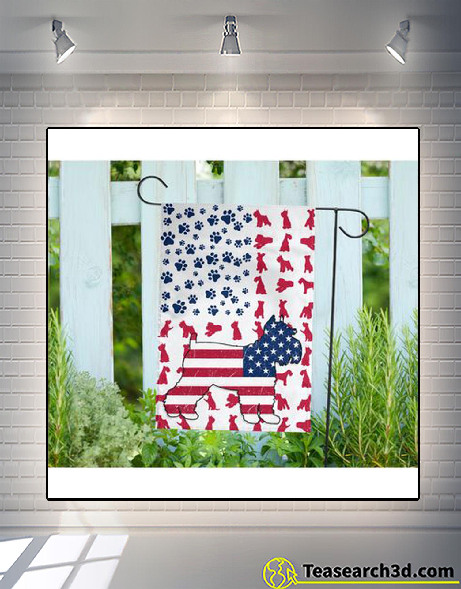 Schnauzer american flag garden-house flag