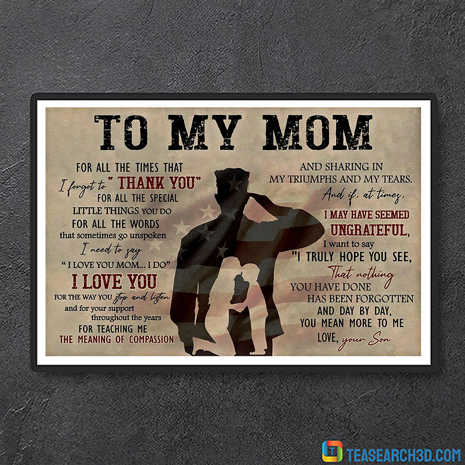 Soldier to my mom for all the times canvas small