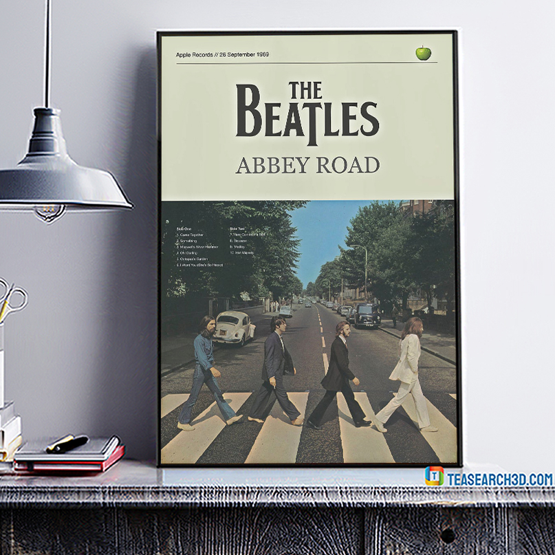 The beatles abbey road poster A1