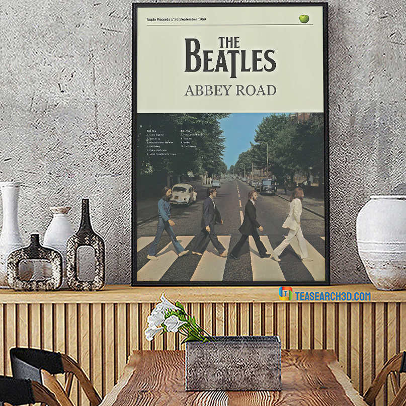The beatles abbey road poster A2