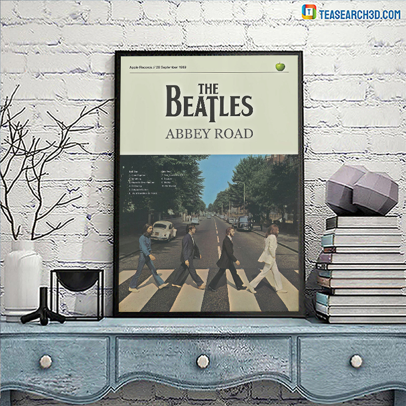 The beatles abbey road poster A3