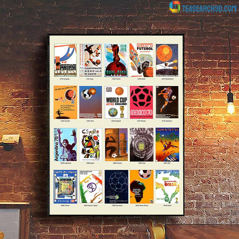 The world cup history football fifa poster A1