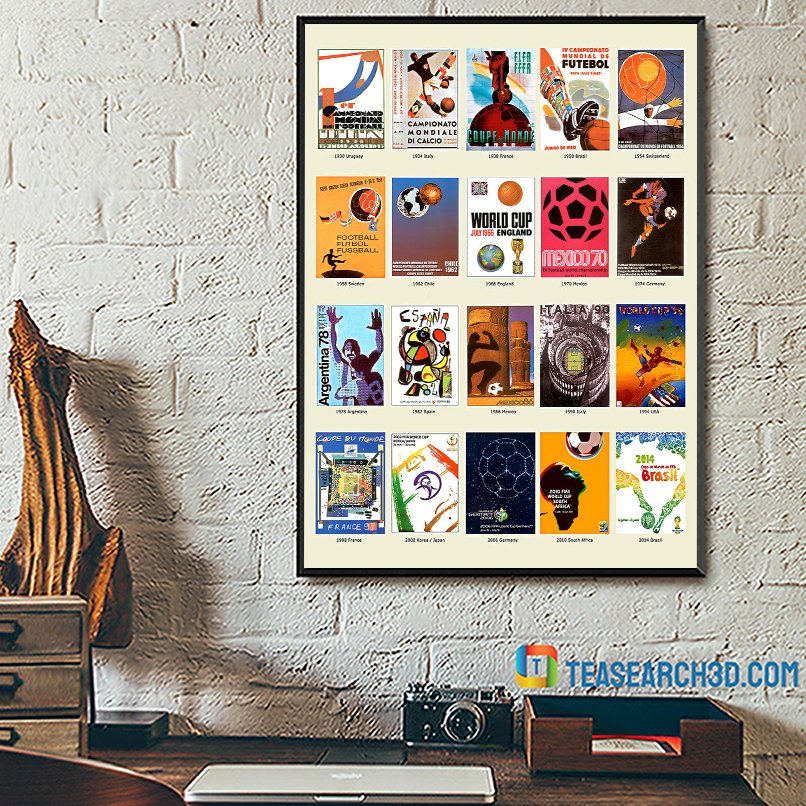 The world cup history football fifa poster A2