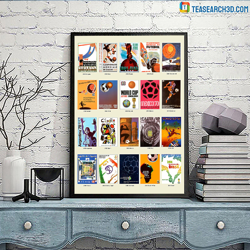 The world cup history football fifa poster A3